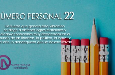 NUMEROPERSONAL22